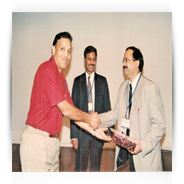 Dr. Prajay Shrivastav being Honoured