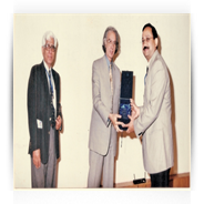 Dr. Prajay Shrivastav being honoured at Karachi