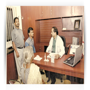 Dr. Prajay Shrivastav during Consultation